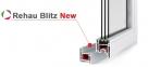 Балконный блок REHAU BLITZ 1300x2140 мм (Г+П/О - СП2) 0
