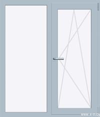 Окно REHAU SIB-DESIGN 1300х1400 мм (Г+П/О - СП2)