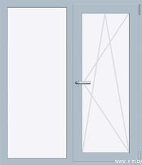 Окно REHAU BLITZ 1300х1400 мм (Г+П/О - СП2)
