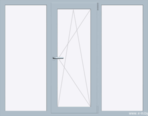 Окно REHAU GRAZIO 1720х1430 мм (Г+П/О+Г - СП2)