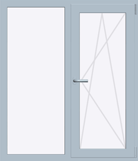 Окно REHAU ВRILLANT-DESIGN 1300х1400 мм (Г+П/О - СП2)+1