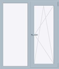 Окно REHAU BLITZ 1300х1400 мм (Г+П/О - СП2)+1