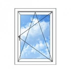 Окно REHAU BLITZ 700х1150(дер) мм (П/О - СП2)+1