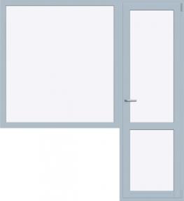 Балконный блок REHAU DELIGHT-DESIGN 2020x2140 мм (Г+П/О - СП2)+2