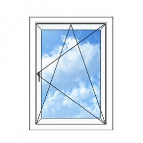 Окно REHAU BLITZ 700х1150(дер) мм (П/О - СП2)+2