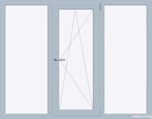 Окно REHAU BLITZ 2020х1430(кир) мм (Г+П/О+Г - СП2)+1