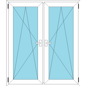 Окно REHAU GRAZIO 1420х1400 мм (П/О+П/О - СП2)+2