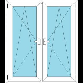 Окно REHAU BLITZ 1430х1430(кир) мм (П/О+П/О - СП2)+1