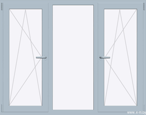 Окно BRUSBOX SUPER AERO 2020х1400 мм (П/О+Г+П/О - СП2)+2